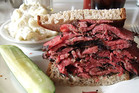 pastrami sandwich at sauls deli in berkeley