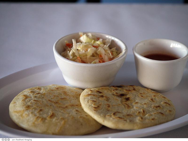 Pupusas at Restaurante El Salvador in Concord - Foodhoe's Foraging