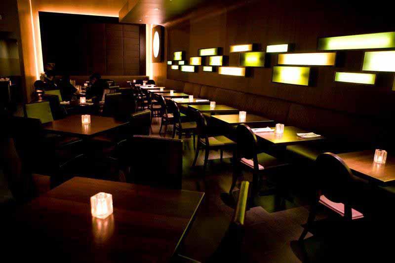 Bijou dining room at night 1