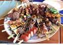 platter of skewers